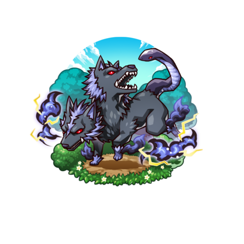 An Orthrus in the mobile game