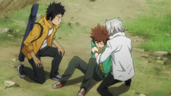 Tsuna Collapses out of Exhaustion