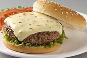 VELVEETA Pepper Jack Stuffed Burgers