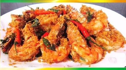 Fragrant Tasty and Crispy Fried Cereal Prawns Recipe