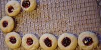 Raspberry Filled Almond Shortbread with Almond Glaze