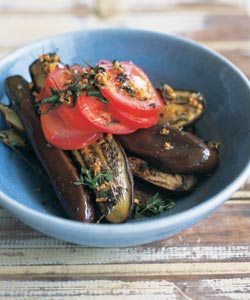 File:Japanese Eggplants With GarlicOlive Oil and Tomatoes.jpg