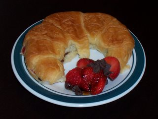 File:Chocolate and Strawberry grilled Croissants.jpg
