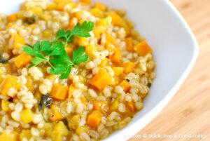 Pumpkin-carrot-barley-risotto