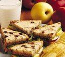 Peanutty Apple Sandwiches