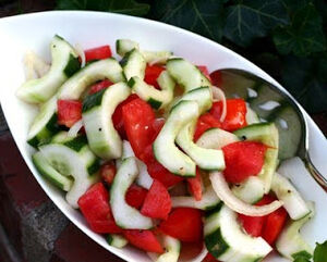 Old-Fashioned Cucumber-Tomato Salad by A Veggie Venture 2008-400
