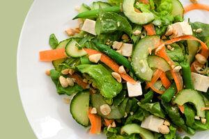 Chilled tofu salad miso vinaigrette 600