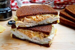 The Rachel Sandwich (aka Roast Turkey Reuben Sandwich) 500 5494