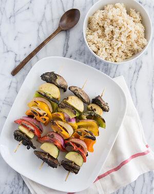 Green curry veggie kabobs