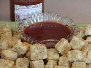 Deep Fried Tofu With Asian Plum Sauce or Thai Peanut Sauce