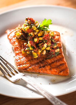 Salmon-with-corn-salsa