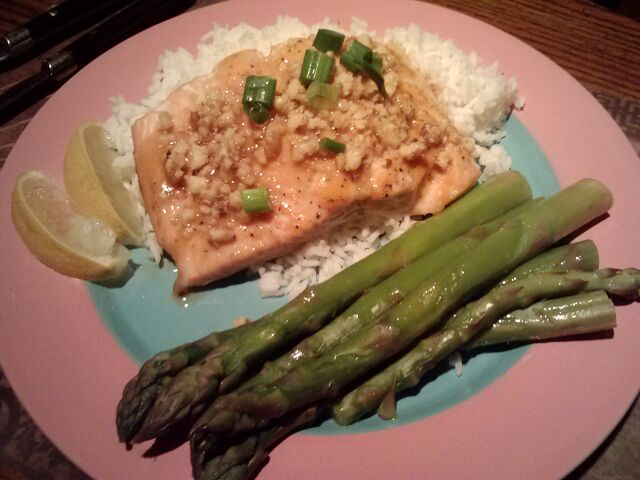 File:Roasted-salmon-with-maple-mustard-glaze-variation-dijon-with-walnuts.jpg