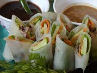 File:Duck Sping Rolls with Dipping Sauces.jpg
