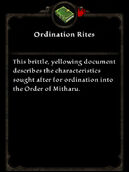 Ordination Rites
