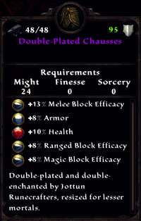 Double-Plated Chausses Inventory