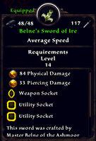 Belnes sword of ire