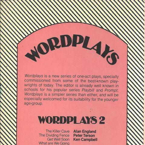 <i>Wordplays 1</i>, back cover