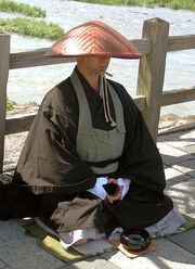 Japanese buddhist monk by Arashiyama cut