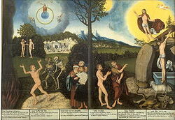 Cranach Gesetz und Gnade Gotha