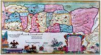 1695 Eretz Israel map in Amsterdam Haggada by Abraham Bar-Jacob