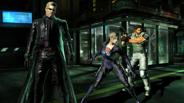 File:Marvel Vs Capcom 3 Albert Wesker & Jill Valentine & Chris Redfield.jpg