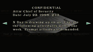Resident Evil files - Mail from the Chief of Security page 2