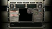 RE0HD Wesker Mode menu (Rebecca)