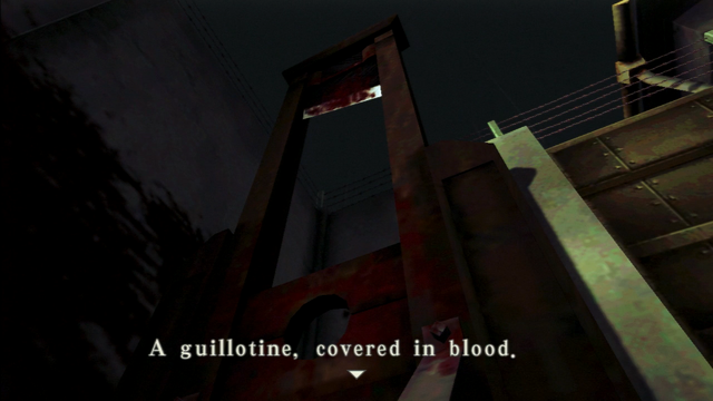 File:Resident Evil CODE Veronica - square in front of the guillotine - examines 08-1.png