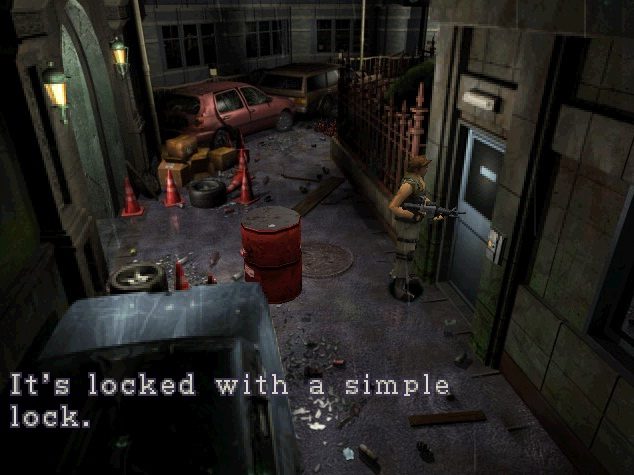 File:Simply locked door on the park road.jpg
