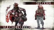 Resident Evil Revelations 2 - Sploder and Vulcanblubber concept art