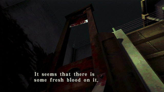 File:Resident Evil CODE Veronica - square in front of the guillotine - examines 08-2.png
