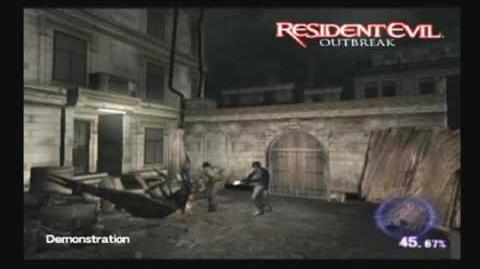 Resident Evil Outbreak cutscenes - 00 - Title menu - Gameplay demo 1