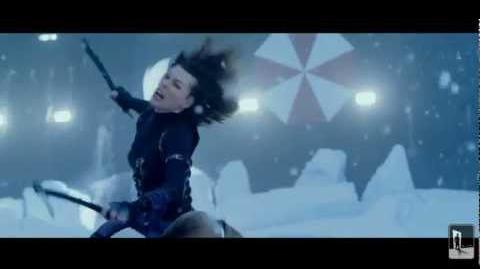Resident Evil Retribution FIGHT SCENE Jill,Rain vs Alice,Ada,Leon & Luther (EXCLUSIVE)