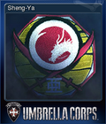 Umbrella Corps PC Steam Trading Card Sheng-ya 120x140