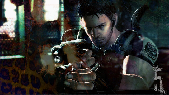 File:Resident Evil 5 Chris taking aim - PS3 Wallpaper.jpg