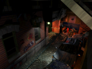 Resident Evil 3 background - Uptown - street along apartment building f - R10D0C