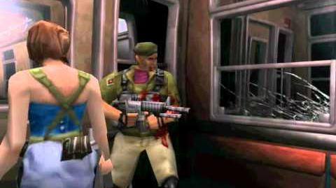 Resident Evil 3 Nemesis cutscenes - Mikhail fights with Nemesis