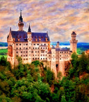 Neuschwanstein Castle by Michael Pickett