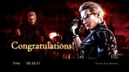 RE0HD Wesker results