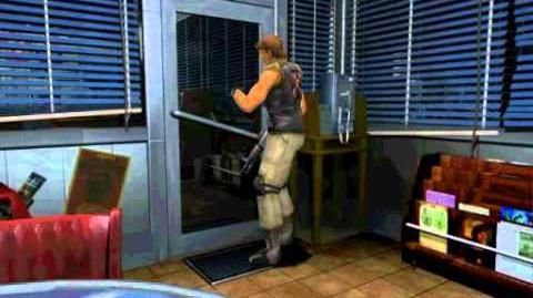 Carlos enters the gas station (cutscene)