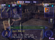 Resident Evil Outbreak items - Staff Room Key 02