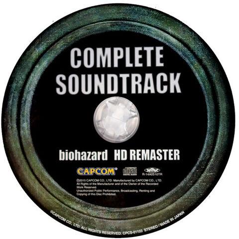 File:Biohazard HD REMASTER COMPLETE SOUNDTRACK.jpg