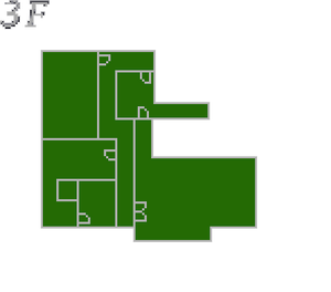 Resident Evil 2 prototype - Police Station map - 3F