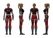 Resident Evil 2 - Elza Walker RPD armor model (damage 1)