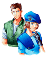 Resident Evil - Chris Redfield and Jill Valentine alpha