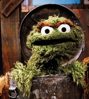 Storyteller Fraggle likewise Oscar the Grouch in addition Anonymous Mask likewise The Top 10 Worst Mascots Ever likewise Glenn Rhee Survive Dumpster Memes. on oscar grouch day