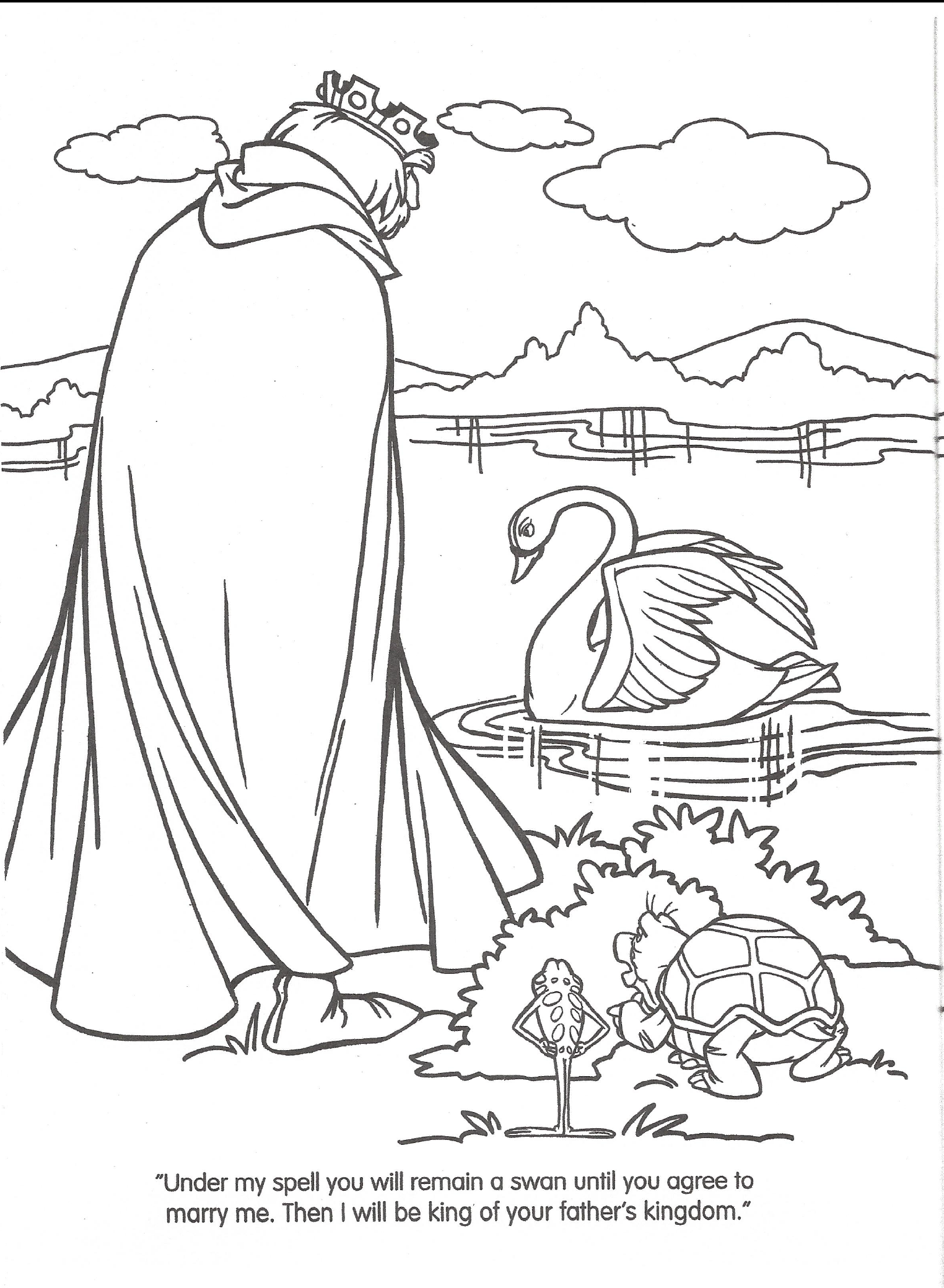 swan princess coloring pages free - photo#36