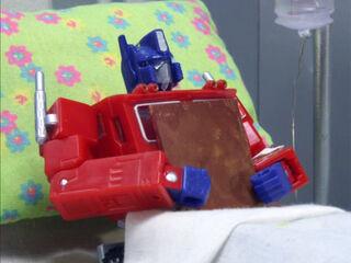 Cut Down in His Optimus Prime