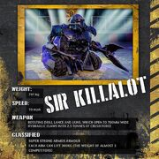 Sir Killalot stat card