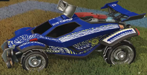 Tribal decal saffron rare